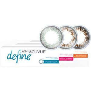 1-day acuvue define 90pk,ημερήσιοι έγχρωμοι φακοί επαφής,φακός επαφής
