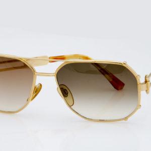 Gerald Genta Sunglasses Gold and Gold 01 Old Stock Unique Collector s Item  Original Vintage By Orama 7707382b9da