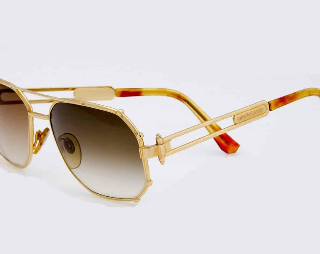gerald genta sunglasses gold