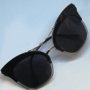 Jak & Jil Cat Eye Fashion Women Sunglasses Black Gold
