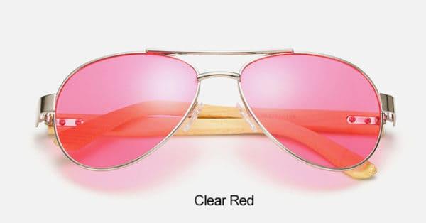 Waves,Aviator,Sunglasses,Men,Women,Wood,Arm,UV400