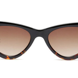 Waves,CatEye,Women,Vintage,Sunglasses,Black,Brown
