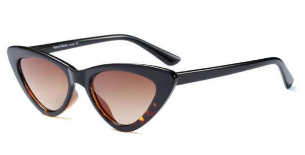 Waves,CatEye,Women,Vintage,Sunglasses,Black,Brown