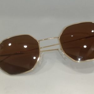 Waves,Hexagon,Unisex,Vintage,Sunglasses,Metal