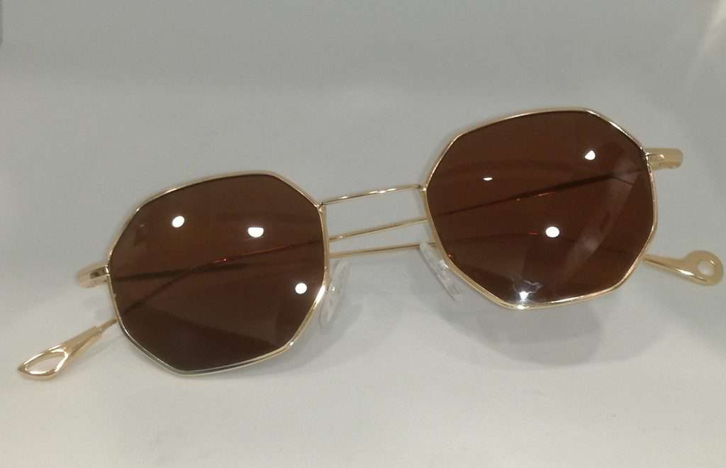 da86022554 Waves Silver Series Hexagon Unisex Vintage Sunglasses Metal